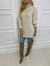 Load image into Gallery viewer, The Frankie Knitted Tunic Dress in Cream