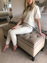 Load image into Gallery viewer, The Georgia Loungewear Set in Cream