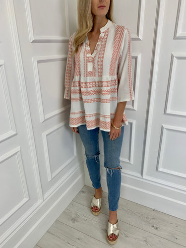 The Rosanne Top in Blush