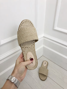 The Mykonos Sandals in Beige