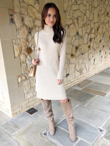 The Danielle Knit Dress is Beige