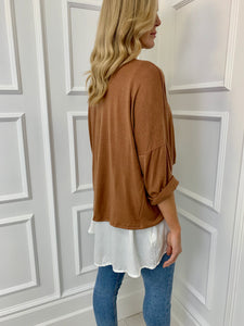 The Kylie Two in One Top in Camel