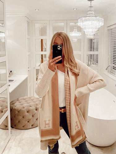 The H Scarf in Beige