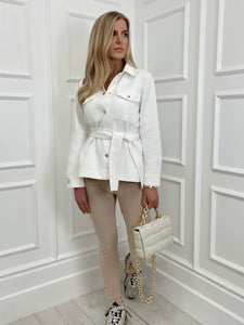 The Daphne Denim Shirt Jacket in White