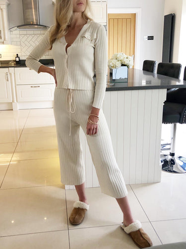 The Lola Loungewear Set in Cream