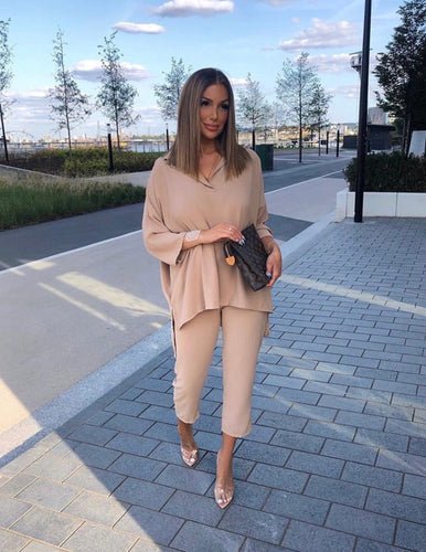 The Katie Two Piece in Camel