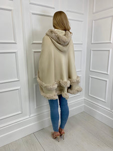 The Rosie Poncho in Cream