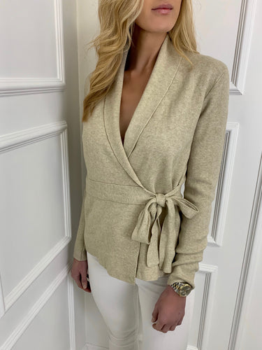 The Kate Wrap Cardi in Beige