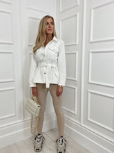 Load image into Gallery viewer, The Daphne Denim Shirt Jacket in White