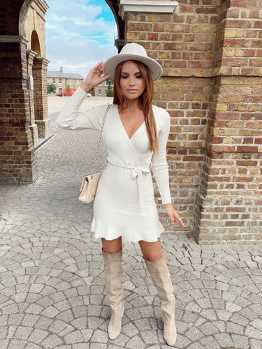 The Sadie Knit Dress In Neutral