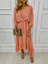 Load image into Gallery viewer, The Remi Maxi Dress in Peach