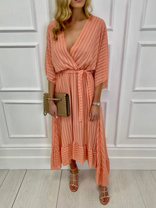 The Remi Maxi Dress in Peach