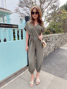 The Jessy Jumpsuit in Khaki
