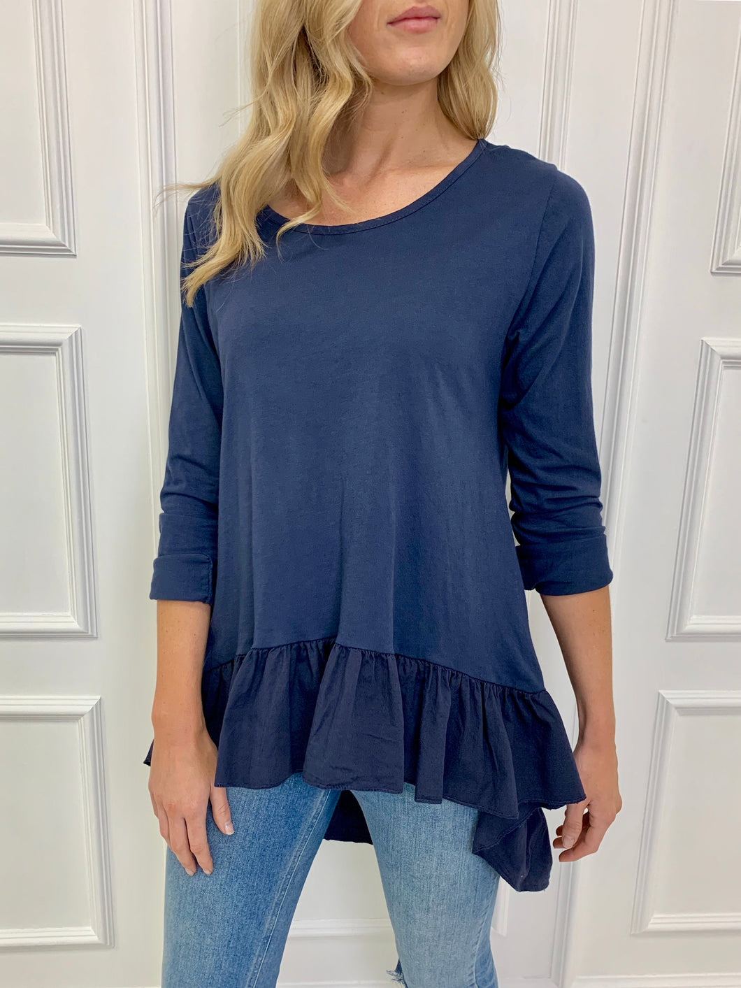 The Tazmin Tee in Navy