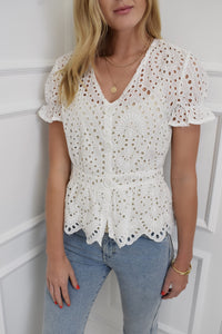 The Bonnie Broderie Blouse