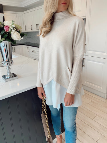 The Lucy Knit Shirt Jumper