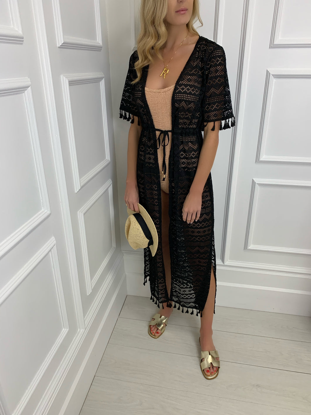 The LA Maxi Cover Up in Black
