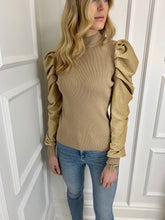 Load image into Gallery viewer, The Cressie Statement Shoulder Knit in Gold