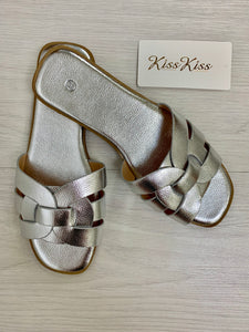 The Saint Sandals in Silver