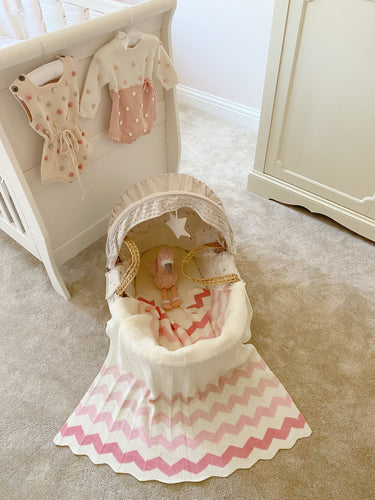 The Mimi Blanket in Pink and Cream