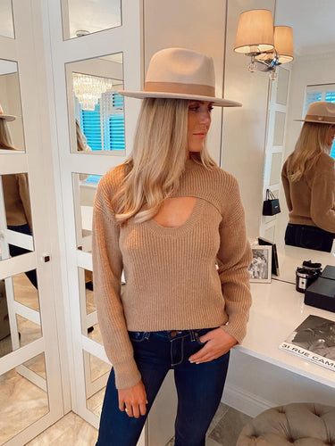 The Bella Knit in Camel