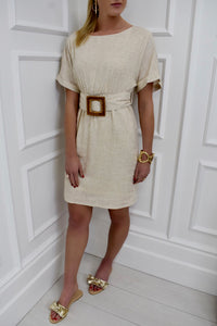 The Betsy Belted Linen Dress