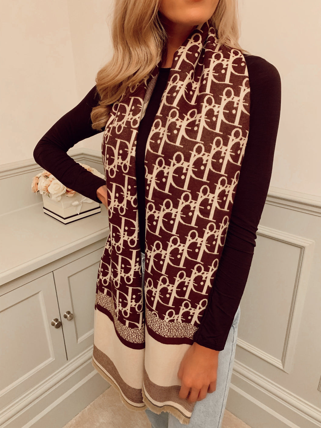 The Die For You Scarf in Brown