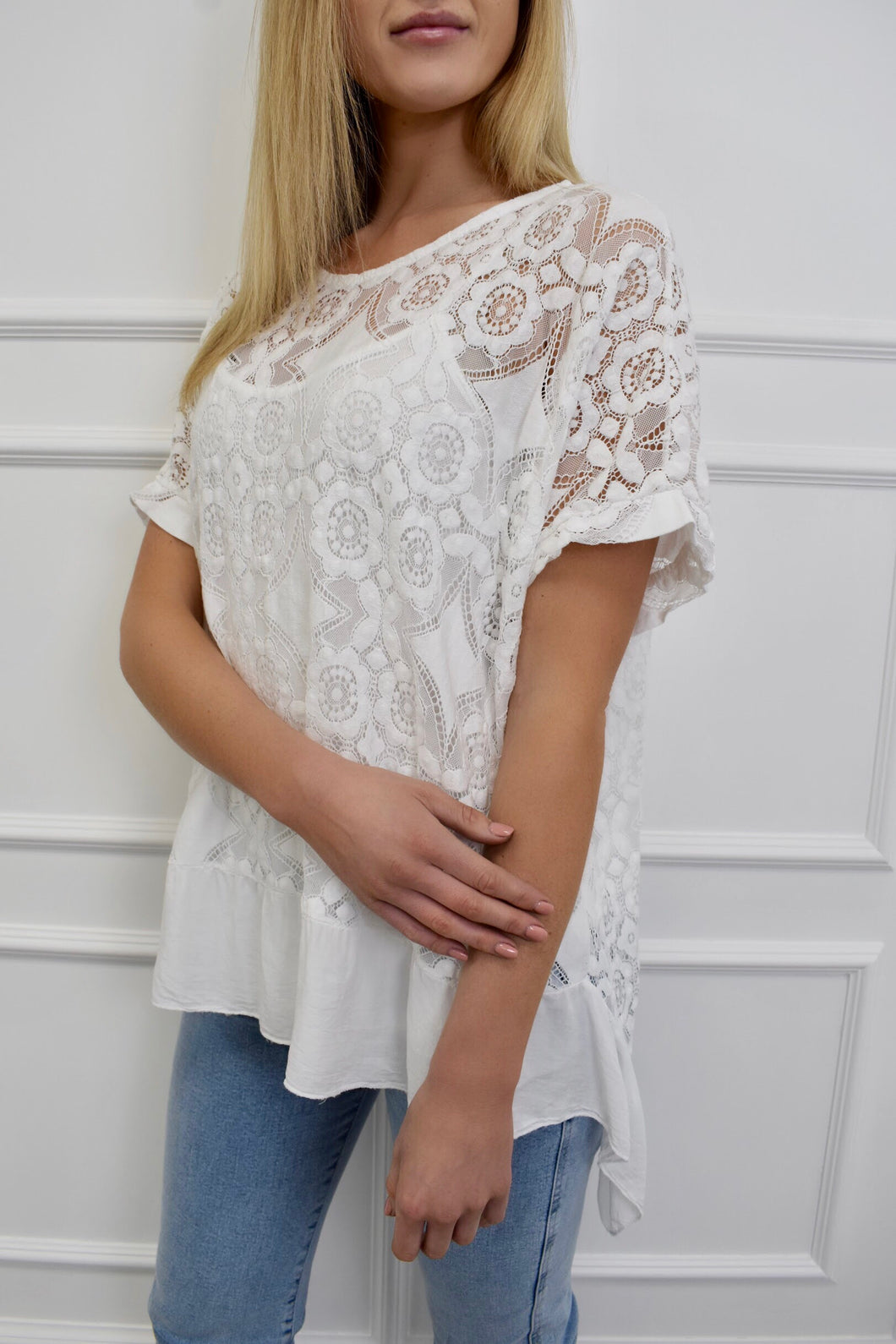 The Rome Lace Tee