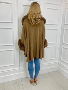 The Carlton Cape in Mocha