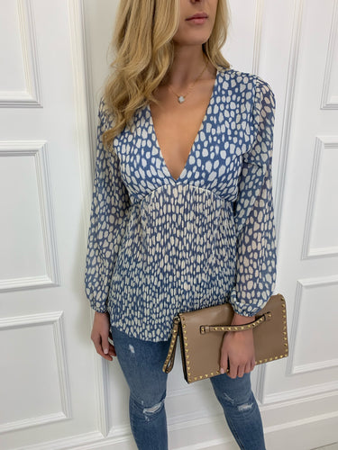 The Willow Blouse in Blue