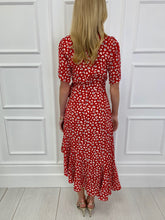 Load image into Gallery viewer, The Rome Wrap Midi Dress in Red