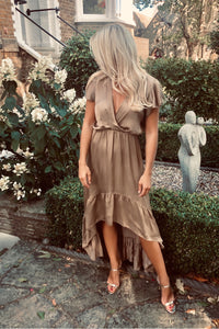 The Sophia Dress in Mocha