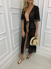 Load image into Gallery viewer, The LA Maxi Cover Up in Black