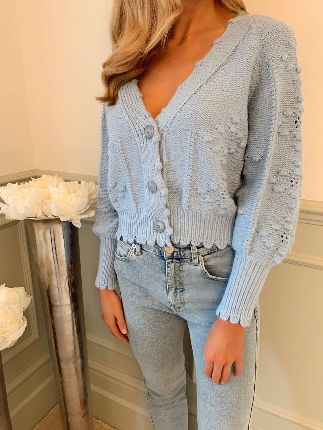 The Sasha Cardi in Baby Blue