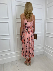 The Rebecca Midi Dress in Pink