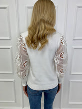 Load image into Gallery viewer, The Lula Sheer Sleeve Knit in Ivory