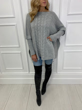 Load image into Gallery viewer, The Pippa Poncho Knit in Grey