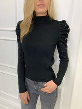 Load image into Gallery viewer, The Valerie Statement Shoulder Knit in Black