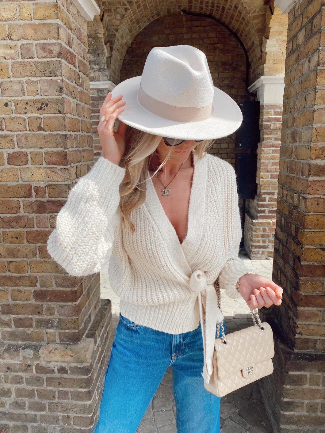 The Ruby Wrap Knit in Cream