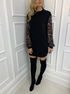 The Sydney Knitted Dress in Black