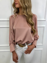 Load image into Gallery viewer, The Blossom Silky Blouse in Blush