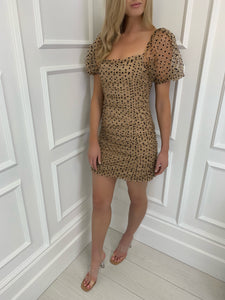The Tazmin Tulle Dress in Caramel
