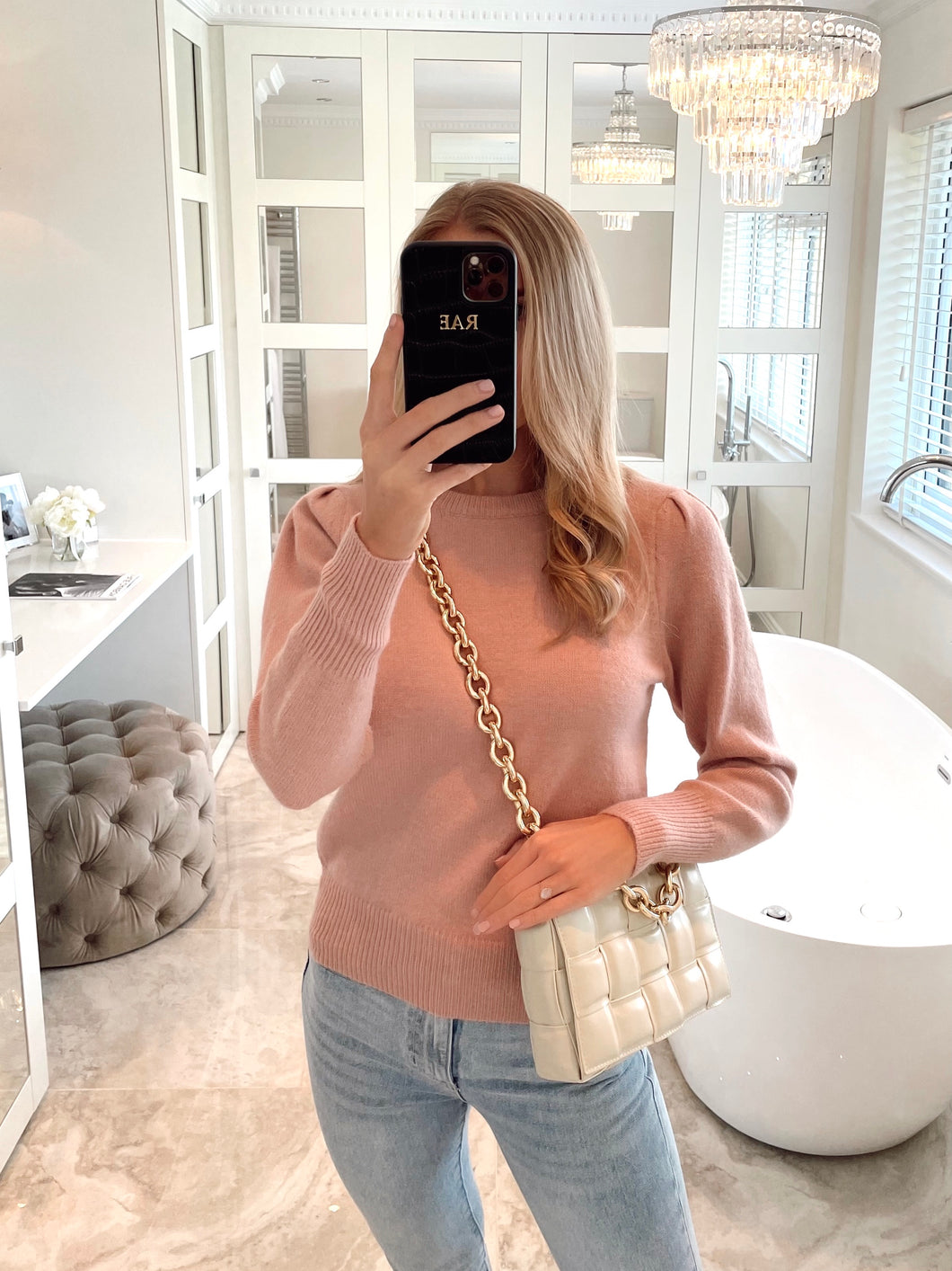 The Rosie Knit in Dusky Pink