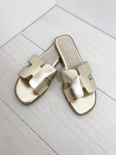 Load image into Gallery viewer, The Monaco Sandals in Gold
