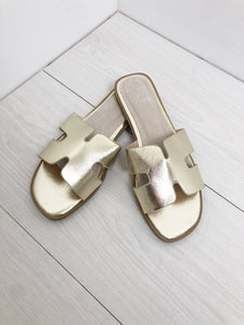 The Monaco Sandals in Gold