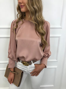 The Blossom Silky Blouse in Blush