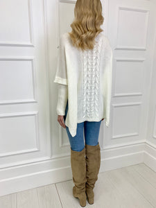 The Pippa Poncho Knit in Cream