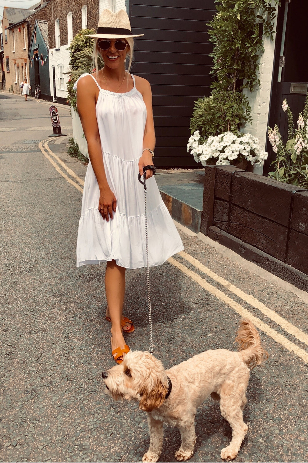 The Lolly Swing Dress in White