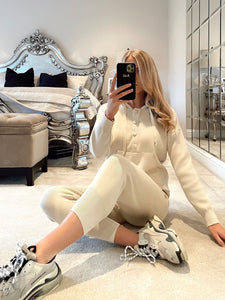 The Chantelle Loungewear In Cream