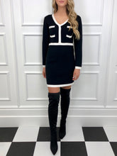 Load image into Gallery viewer, The Celine Knitted Dress in Black
